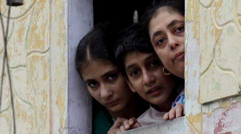 A Muslim family looks out, in Saharanpur on Sunday. Source: Prem Nath Pandey