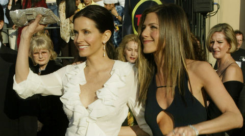 Courteney Cox once had a problem with selecting some workout machine, which Jennifer Aniston solved for her. (Reuters)