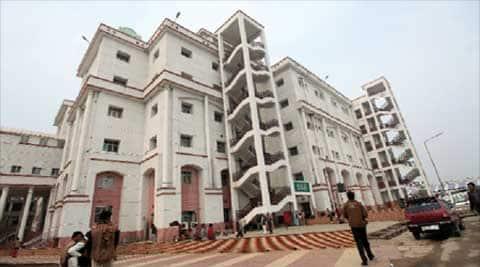 A sprawling building at Saifai.