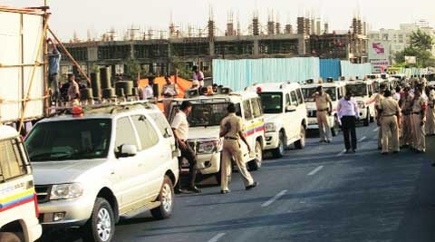 Personal assistants of ministers often fight with police officials for allocation of pilot cars. Express