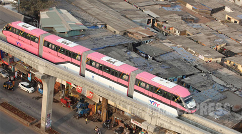 The authority plans to extend the train to six coaches and scale up services frequency to at every nine minute. (IE Photo: Prashant Nadkar)