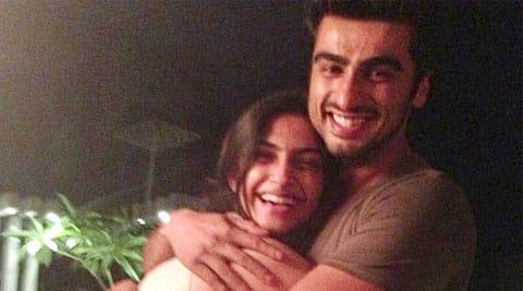 Sonam was cheering up brother Arjun Kapoor.