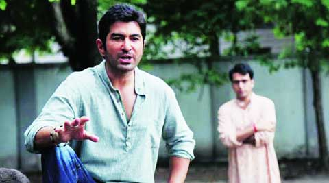 Jeet and Abir in a scene from The Royal Bengal Tiger