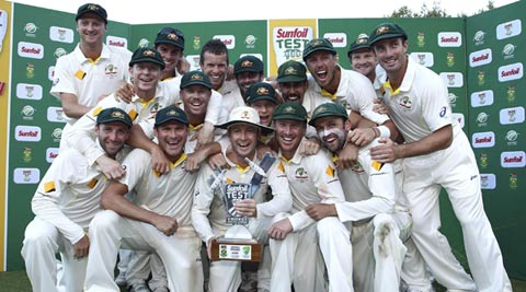 Less than five overs remained in the final day when last man Morkel was dismissed. Harris' 4/32 proved decisive for the victorious Aussies. (Reuters)
