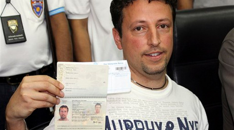 Italian Luigi Maraldi, left, whose stolen passport was used by a passenger onboard the missing Malaysian airliner. (AP)
