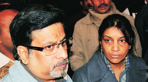 Rajesh & Nupur Talwar have objected to the release of Rahasya, which is reportedly based on the case. Express archive