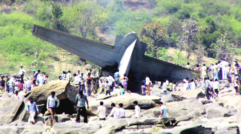 The aircraft crashed on March 28. Express archive