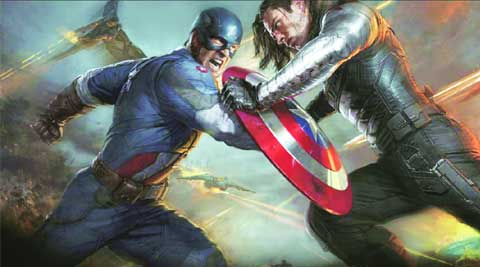 A scene from Captain America: The Winter Soldier