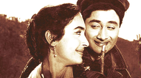 Evergreen Dev Anand and Nutan in Paying Guest.