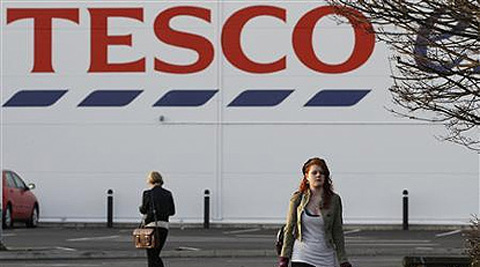 Tesco announced a second drop running in underlying annual profits as it hopes that recent expansion into India and China can offset weakness in Europe. Reuters
