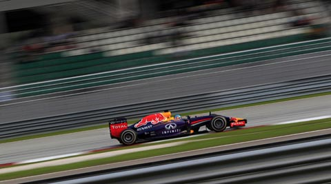 Sebastian Vettel's 15 points for third place were Red Bull's first of the season for a team that looked in disarray after their Renault power unit suffered reliability woes (AP)