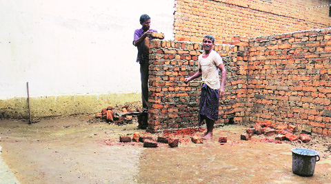 """Chandu Sahu, 60 Ghaunch village, Mahasamund;   The daily wage labourer says he probably got 7,000 votes, """"that's what people tell me"""""""