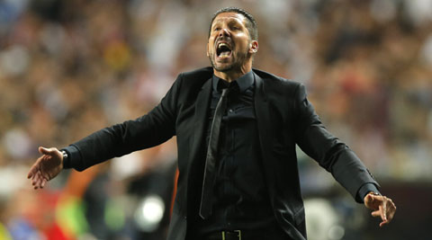 Diego Simoeone said Real had raised their game in the second half after Atletico went ahead through Diego Godin in the 36th minute. (AP)