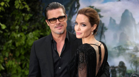 """Angelina Jolie on acting with Brad Pitt, """"we are thinking about it.'' (AP Photo)"""