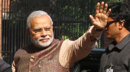Modi asked Cabinet colleagues to take their Ministers of State into confidence, and give them adequate work. (Source: Express photo by Neeraj Priyadarshi)