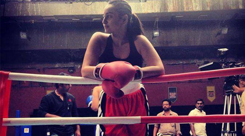 """It was fun though. Little parts of boxing I learnt on set with Vijender,"" Sonakshi said."