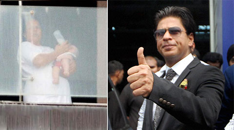 Shah Rukh Khan spends time with AbRam.