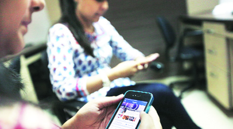 A Nimhans survey confirmed addiction to smart phones, social networking sites, online games. Illustrative picture