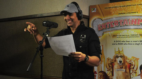 Akshay Kumar is the latest Bollywood celebrity to sing a full-fledged song.