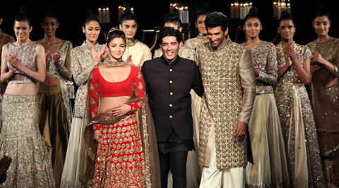Manish Malhotra presented his latest bridal collection at the ongoing ICW.