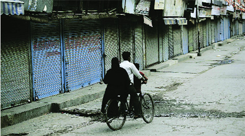 Shops were allowed to open but most decided to keep shutters down. Source: PRAVEEN KHANNA