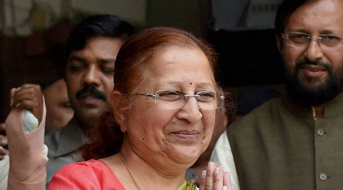 "Sumitra Mahajan advised legislators to ""do anything by the rule"" and necessarily respect the Chair and the fellow members. (Source: PTI photo)"