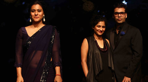 Kajol took the LFW ramp by herself while, Karan was spotted with Gauri Shinde.