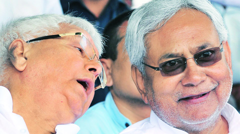 'Secular and Socialist' alliance: Lalu and Nitish's social engineering experiment is on trial in evenly matched contest. Source: Prashant Ravi
