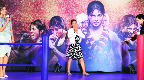 London Olympics bronze-medal winning boxer Mary Kom at a promotional event of the movie Mary Kom. (Source: Prakash Yeram)