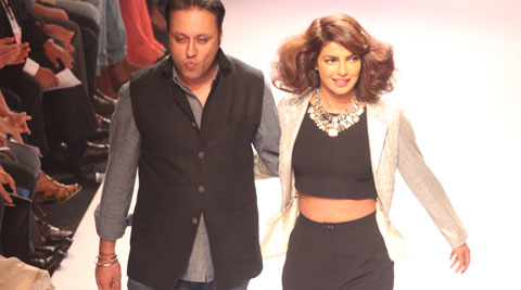 Model-turned-actress Priyanka Chopra has confessed that she gets nervous while walking the ramp. (Source: Express Photo by Dilip Kagda)