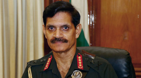 Army chief General Dalbir Singh Suhag in his office on Thursday. (Source: PTI)