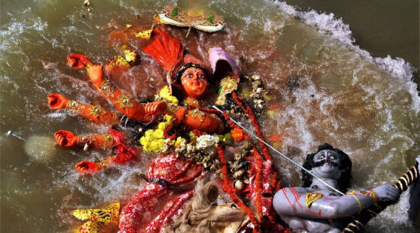 """Last year in October, the state government had made """"solemn promise"""" before the court that the idols would not be immersed in the rivers from next year. (Source: PTI)"""