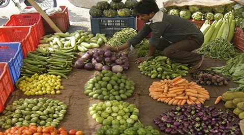 Vegetable prices contracted 4.88 per cent, the third continuous month of decline, but potato prices were on the rise in August.