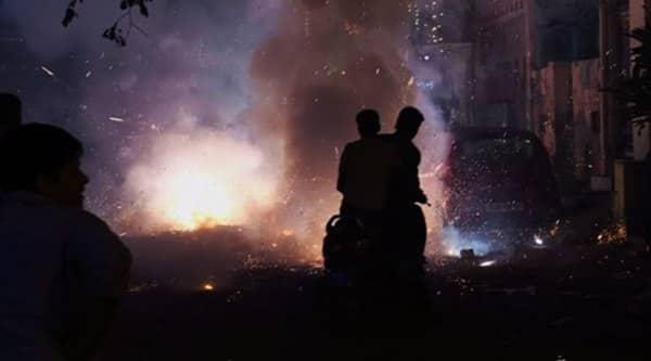 People celebrate Diwali festival in New Delhi on Thursday. (Source: PTI)