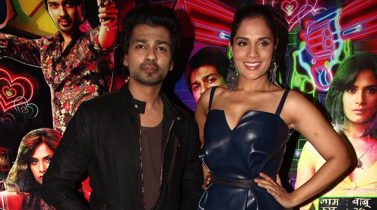 Richa Chadha and Nikhil Dwivedi, who are playing absconded inmates in their upcoming film 'Tamanchey', visited Tihar jail and interacted with the inmates here on the occasion of Eid.