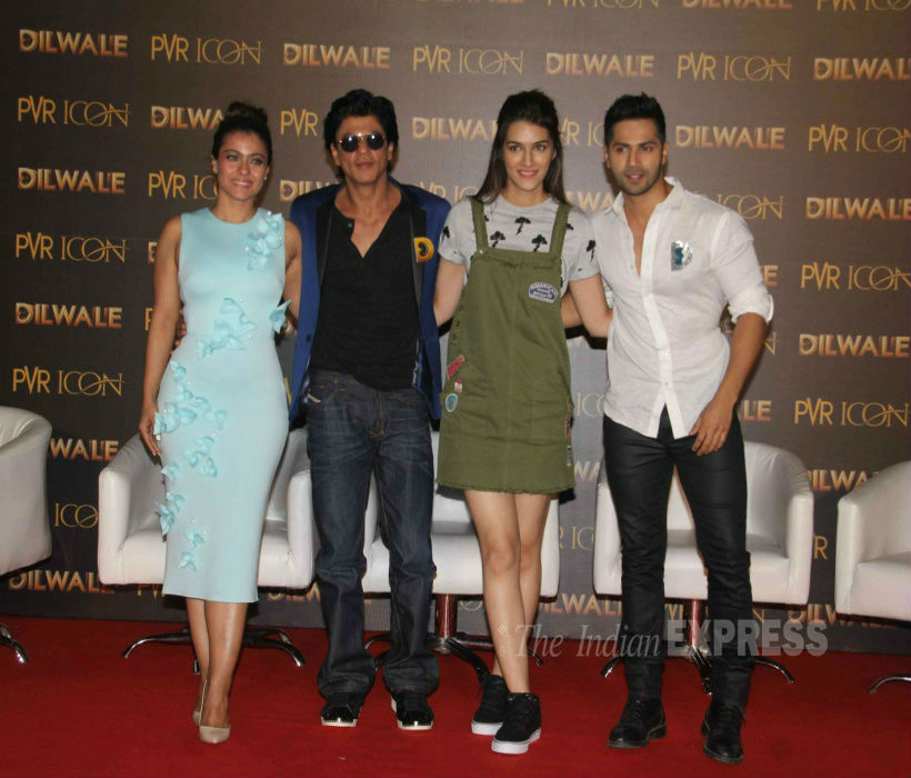 Shah Rukh Khan, Dilwale, Varun Dhawan, Kajol, Kriti Sanon, bollywood