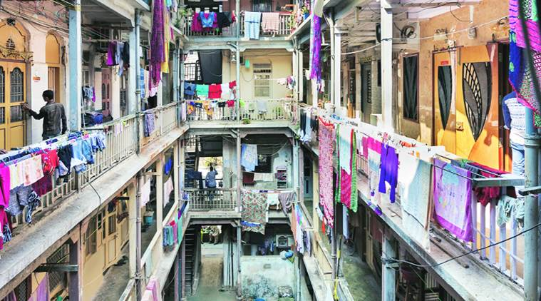(Clockwise from above) Bhatia Chawl; Charkop Courtyard; Bhatia Chawl Kitchen Kunal Bhatia