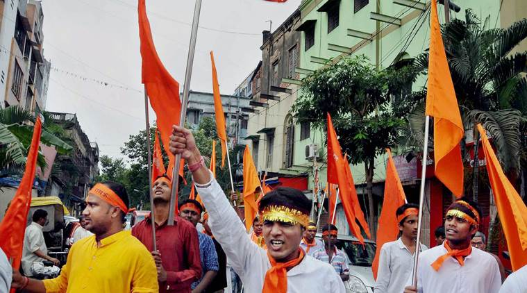ram navami rally, west bengal, armed ram navami rally, minors in armed rally, indian express