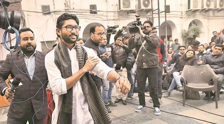 Dalit leader Jignesh Mevani, Vadgam Dalit leader Jignesh Mevani, Jignesh Mevani, BJP, RSS, India News, Indian Express, Indian Express News