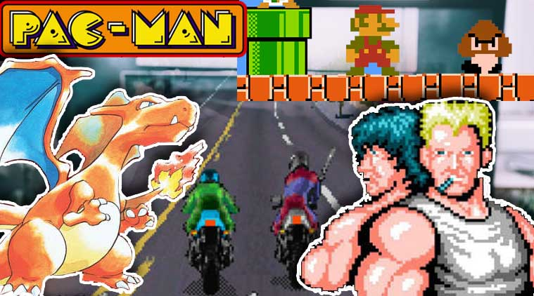 Contra, Pac-Man, Pokemon, Road Rash, Super Mario Brothers, iOS, Android, games