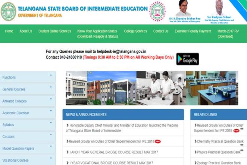 """ar will commence from February 27 and for the second year, it will begin from February 28. The admit card is available at the official website bie.telangana.gov.in"""" />"""