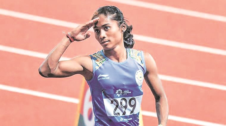 Hima Das in relay squad, with a caveat