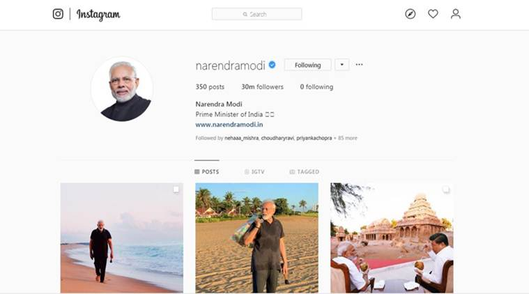 With 30 million followers on Instagram, Modi becomes world's most followed global leader