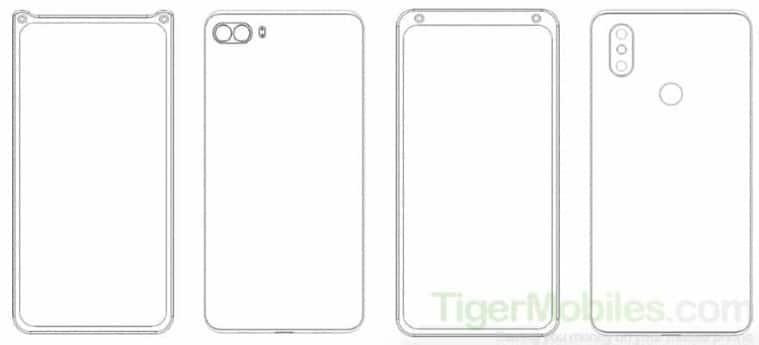 xiaomi patent dual-selfie camera, xiaomi dual selfie camera patent, xiaomi design patent screen