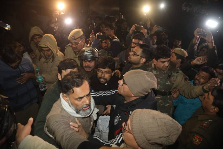 Yogendra Yadav claimed that he was stopped from entering JNU campus.