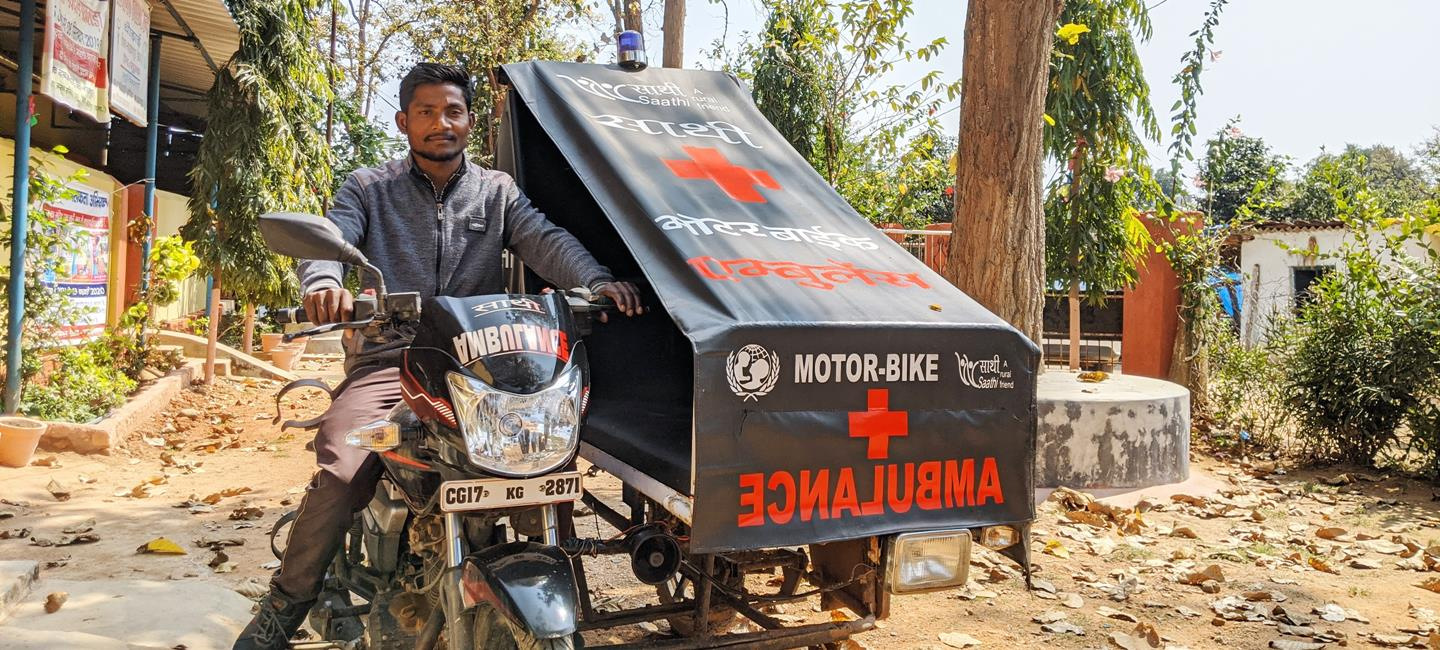 Bike ambulances in the red corridor, driving tribal women to safer deliveries