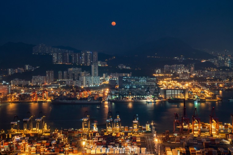 Views of HongKong International Terminal Ltd. Container Terminal As Hong Kong Port Falls to Lowest Position in at Least 40 Years (Bloomberg)